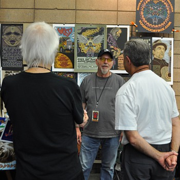 Gary Houston at TRPS Festival of Rock Posters, 10/9/10 - Posters and Prints