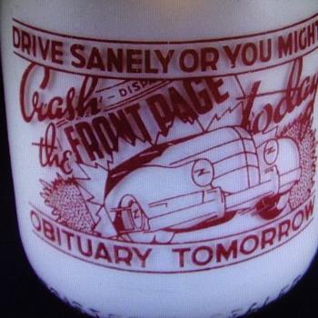 "WILSON'S MELLO ""D"" MILK QUART MILK BOTTLE WITH UNUSUAL DRIVING SLOGAN....... - Bottles"