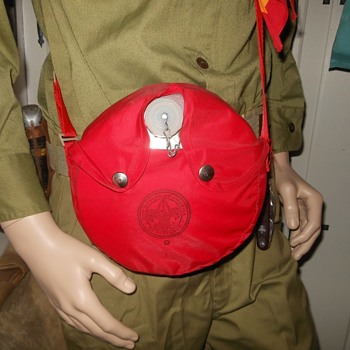 The Saturday Evening Scout Post 1970s Boy Scout Canteen With Red Cover Regal - Sporting Goods