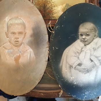 Antique Oval Art and Photograph 1880's era - Photographs