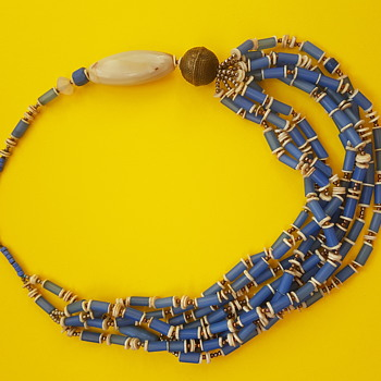 Ethnic tribal ancient glass necklace - Fine Jewelry