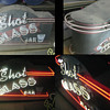 Vintage 1970's THE SHOT GLASS BAR Neon sign Beautiful Design / Great Art piece