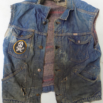 1960s Patched Biker Gang Denim Jacket - Mens Clothing