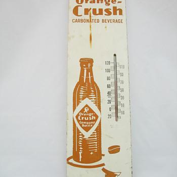 Wooden Orange Crush Thermometer - Advertising