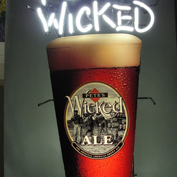 Pete's Wicked Ale Beer Glass Neon Sign