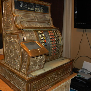 1906-1912 National Cash Register Brass - Coin Operated