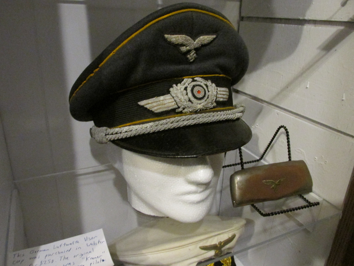 WWII German Luftwaffe Pilot Officer Visor Cap | Collectors