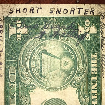 WW2 SHORT SNORTER Signed on April 3, 1942 - Military and Wartime
