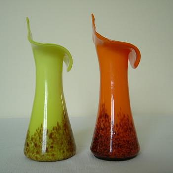 Harrach Art Deco Vases - Art Glass