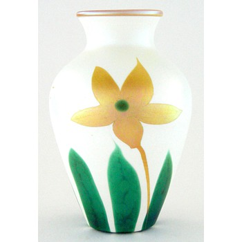"A 6-1/2"" Quezal vase - Art Glass"