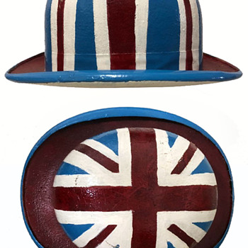 1960s Carnaby Street London OOAK Painted Bowler Hat - Hats
