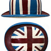 1960s Carnaby Street London OOAK Painted Bowler Hat