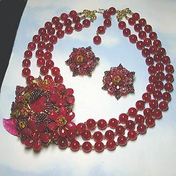A Favorite Stanley Hagler Demi Parure - Costume Jewelry