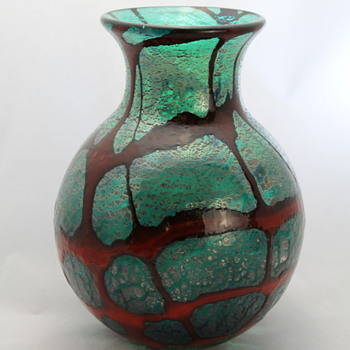 Glass vase Japan circa 1960s - Art Glass