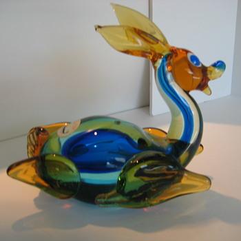 Venetian  (Jordan Imports label)  sommerso deer - Art Glass