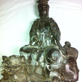 antique bronze statue - Asian