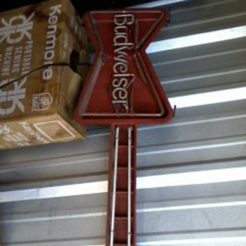 Vintage Guitar Budweiser Neon Light - Breweriana