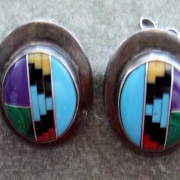 Edith James Inlay Earrings