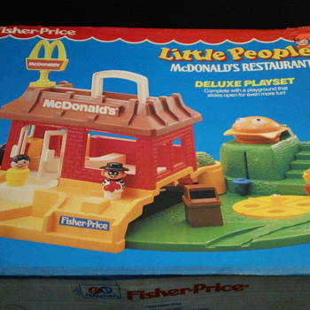 1989 FISHER-PRICE LITTLE PEOPLE MCDONALD'S FACTORY SEAL MINT