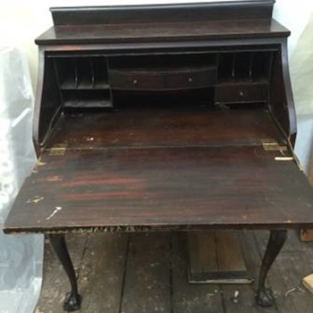 Antique drop front desk - Furniture