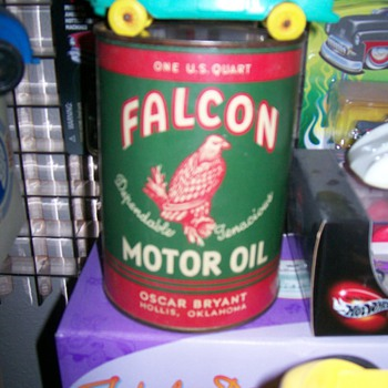 Falcon Motor Oil, Dealer Display Can