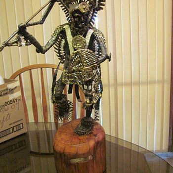 Kiawa Brave part 2  bronze sculpture from James H. Scorse - Fine Art