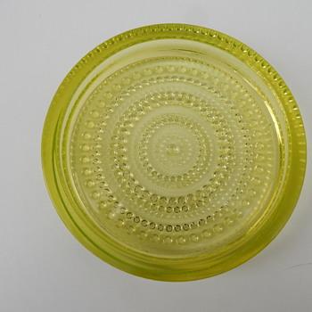 Oiva Toikka Kastehelmi Dish. - Art Glass