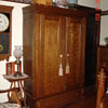 Tiger Oak Two Door Knockdown Wardrobe With Bottom Drawer