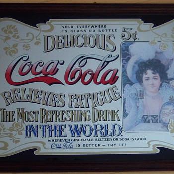 Coca Cola mirror vintage 5cent - Coca-Cola