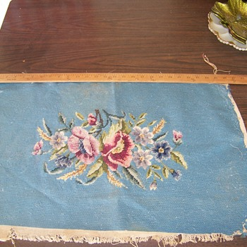 Estate Find Embroidered panel - Sewing