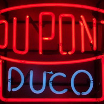 DUPONT DUCO VINTAGE NEON SIGN - Signs