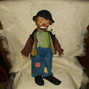 Emmett Kelly Willie The Clown Baby Barry Toy 1950s - Dolls
