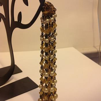 Beaded Tassle Hair Pin - Fine Jewelry