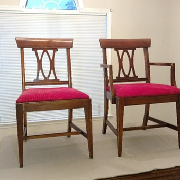 Who manufactured these dining chairs?