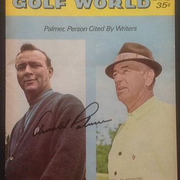 ARNOLD PALMER SAM SNEED AUTOGRAPHED