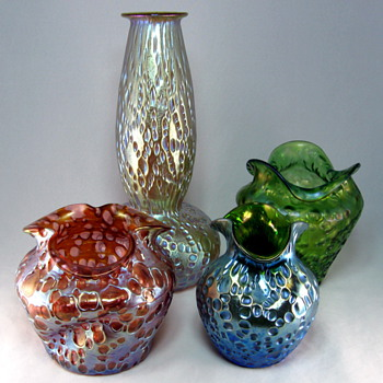 Groups of Loetz Decors in different colors - Art Glass