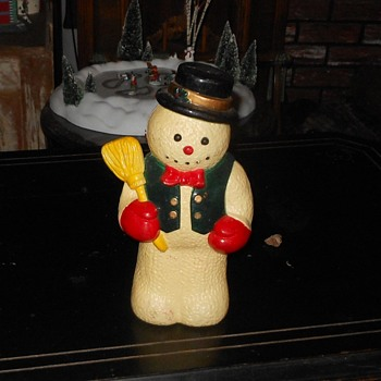 Plastic Snowman Made In China 10 Inches Tall - Christmas