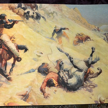 My favorite old cowboy print - Argument with the Sherriff, 1919, by W. R. Leigh - Posters and Prints