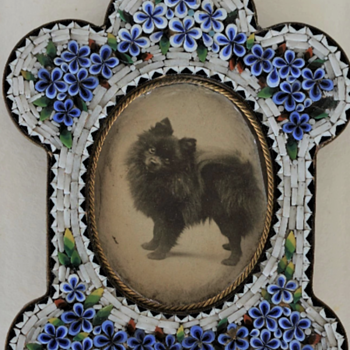 Micro Mosaic Frame With Original Photo Of Dog  - Fine Art