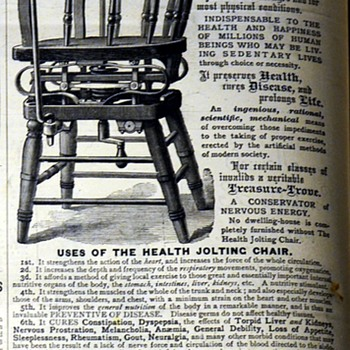 The Health-Jolting Chair Advertisement - Furniture