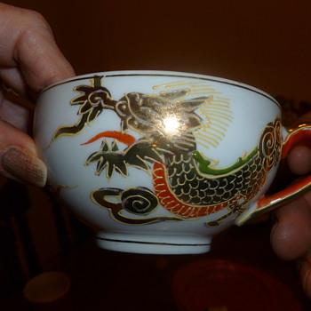 Dragonware geisha lithopane - China and Dinnerware