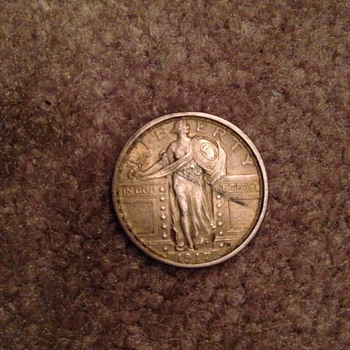 1917 Standing Liberty Quarter, Type 1 Full Head! - US Coins