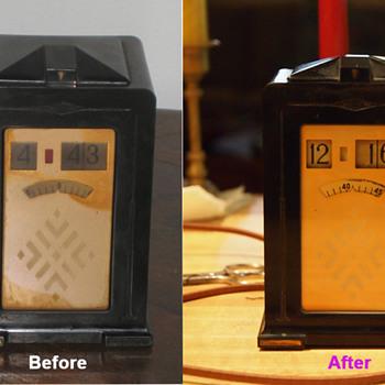 "The First Electric Digital Clock - Telechron Cyclometer Model 8B01 ""Minitmaster"", 1933-34"