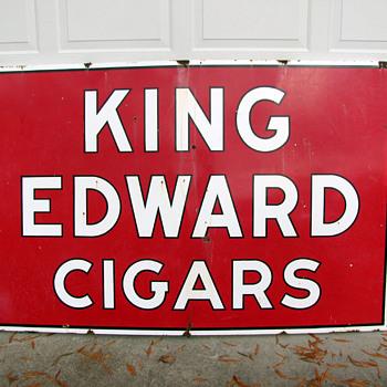 King Edward Cigars Porcelain Sign - Signs