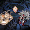 Micro Mosaic Ring * Marcasite and Garnet Brooch * Spanish Gallian Brooch * Mexican Thick Billed Parrots