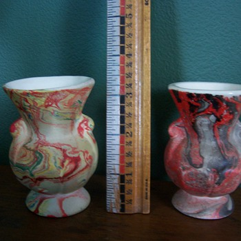 2 small vases, one from my Grandma and one from my wife's Grandma - Pottery