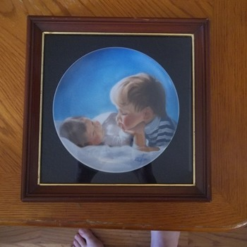Brothely Love Donald Zolan Collectors Plate in Frame - China and Dinnerware