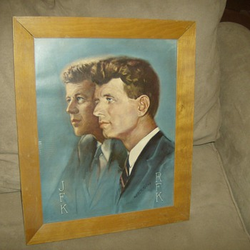John and Robert F. Kennedy Painting - Folk Art