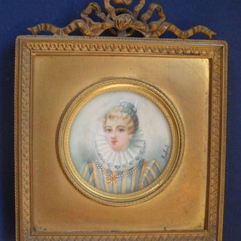 Miniature signed Robert - Fine Art