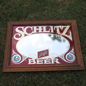 Schlitz Beer Collectible mirror - Breweriana